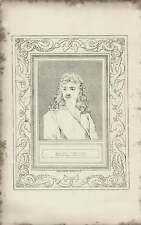 1835 Engraved Portrait of Moliere  ~ G Cooke / Mignard