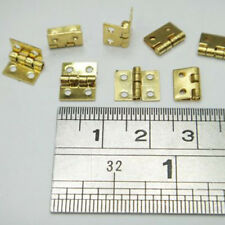 20pcs/Sets  Small Decorative Jewelry Cigar Box Hinges Brushed Brass Mini Hinge