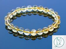 Citrine Natural Gemstone Bracelet Beaded 7-8'' Elasticated Chakra Healing