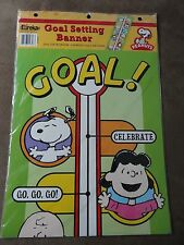 Peanuts Gang & Snoopy Goal Setting Banner-Eureka-New In Package