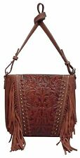 Montana West Trinity Ranch Leather Crossbody Concealed Carry Purse Gun Messenger