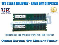 Kingston 8gb 2x4gb DDR2 800mhz 240pin pc2-6400 AMD CPU Placa Base Memoria RAM