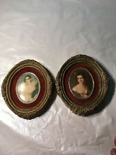 2 Antique Victorian Clay Oval Picture Frames Victorian Photos | FREE Shipping!!!