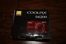 Brand New Nikon COOLPIX S6200 16.0MP HD 720p Digital Camera Red