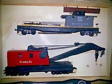 Tyco Ho Scale Santa Fe Operating Crane Car with Boom Tender in Original Box 932