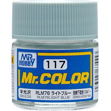 GSI CREOS GUNZE MR HOBBY Color C117 RLM76 Light Blue LACQUER PAINT 10ml MODEL