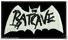 THE BATCAVE EMBROIDERED PATCH DEATHROCK GOTHIC NO WAVE INDUSTRIAL Metal Negro
