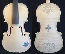 Strad style unfinished SONG Brand Maestro carving violin 4/4,white violin #11600