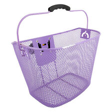 Sunlite Bicycle Basket Front Mesh with Quick Release Bracket - Purple