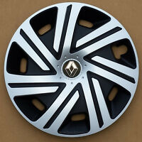 """Brand New black/silver  14"""" wheel trims hub caps to fit Renault Clio"""