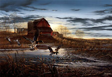 """Art QUALITY CANVAS PRINT, oil painting A788--Terry Redlin] Morning Chores 12x18"""""""