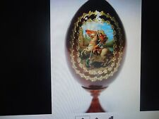 Wood Lacquer Easter Egg Made In Russia Decorative, Collectibles    #15