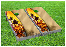 VINYL WRAPS Surfboard Sand Ocean Cornhole Board DECALS Bag Toss Game Stickers 62