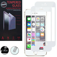 2 Films Verre Trempe Protecteur Protection BLANC pour Apple iPhone 5C