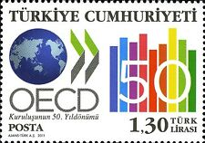 TURKEY 2011, 50 th ANNIVERSARY OF THE ESTABLISHMENT OF OECD, MNH