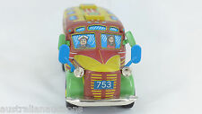 TIN TOY  BUS COACH FRICTION MOTOR QUALITY TOY  MADE IN JAPAN BY SANKYOU TOYS