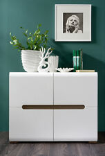 New Azteca Small Sideboard Cabinet In High Gloss White 4 Door