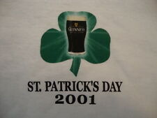 Saint St. Patrick's Day 2001 Guinness Green Shamrock Graphic Print T Shirt XL T