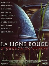 Affiche 40x60cm LA LIGNE ROUGE /THE THIN RED LINE 1999 Malick, Sean Penn TBE