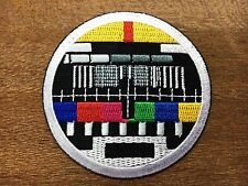 New TV test card television retro  Embroidered Applique Iron on Patch