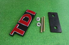 Car Auto Red TDI for Golf Passat Touareg Front Grille Grill Badge Emblem