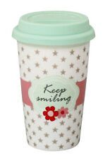 Krasilnikoff Travel Mug Coffee to go Becher Thermobecher - Keep Smiling