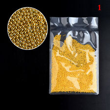 50g Gold Silver No Hole Beads Nail Art Caviar Marbles Microbeads Caviar Manicure