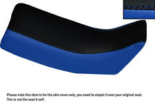 ROYAL BLUE & BLACK CUSTOM FITS YAMAHA DT 125 LC 81-83 DUAL LEATHER SEAT COVER