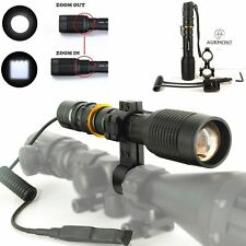 Pro Cree XML L2 Zoomable Scope Mount Light Lamping Lamp Hunting Gun Air Rifle