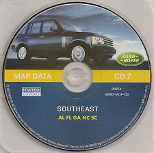 01 02 2003 04 LAND ROVER RANGE NAVIGATION MAP DISC CD 7 SOUTHEAST AL FL GA NC SC