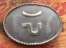 Vintage Hand Made C.L. Rodgers Cowboy Cowgirl Western Belt Buckle