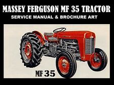 MASSEY FERGUSON MF35 TRACTOR SERVICE MANUAL 400pg w/ MF 35 Repair & Brochure Art