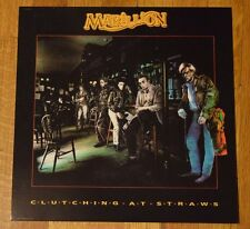 """Marillion """"Clutching at Straws"""" 1987 2-Sided Record Promo Album Flat Poster RARE"""