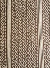 FORTUNY Tapa stripe brown and warm white long staple cotton new remnant