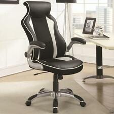 Black and White Office Task Chair with Race Car Seat Design by Coaster 800048