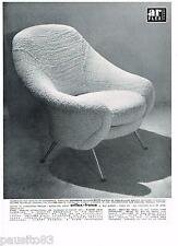 PUBLICITE ADVERTISING 105  1958  ARFLEX-FRANCE   fauteuil sièges