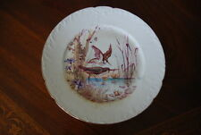 SUPERB LIMOGES GUERIN EARLY HAND PAINTED LARGE GAME BIRDS CABINET WALL PLATE #2
