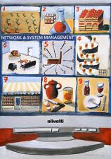 Original Vintage Poster Olivetti Network and System Computer Bimfield 1990 Italy