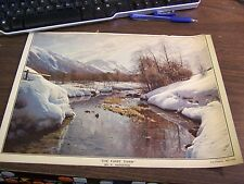 VINTAGE - PRINT - THE FIRST THAW - P MONSTED  - 1925 - 14 INCHES BY 10 INCHES