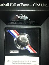 2014 D Baseball Hall of Fame Uncirculated Half Dollar US Mint Box + COA Best B36
