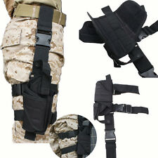 Adjustable Tactical Army Black Pistol Gun Drop Leg Thigh Holster Pouch Holder