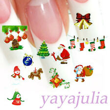 Christmas Holiday Style Nail Art Decal Water Slide Transfer Stickers 11 in1 W24
