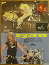 Kingdom Come, James Kottak, Full Page Vintage Promotional Ad, Pearl Drums