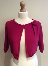MOSCHINO CHEAP AND CHIC SHRUG SIZE 12 GB USA 10 CORSAGE WOOL MADE IN ITALY