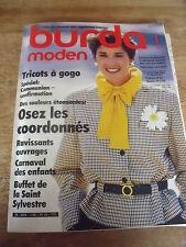 MAGAZINE BURDA MODEN OSEZ LES COORDONNES LE CARNAVAL   ETC 1985