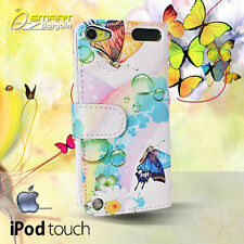 Butterfly Wallet Flip Leather Fancy Case Cover For iPod Touch 6 Gen + ScrenGuard