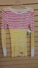 Roxy Women Andie Lilly MultiColor LS SAMPLE Striped Pullover Sweatshirt Sz Small