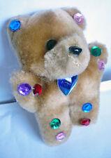 Teddybär Brosche mit Strass, weich, knuddelig, Anstecknadel, braun, NEU + TOP