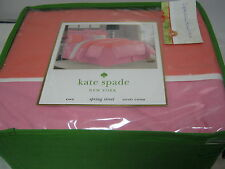 New Kate Spade New York SPRING STREET King Duvet Cover ~ Orange Pink Blossom NIP