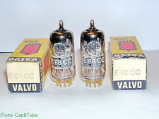 NOS OB 1969's VALVO-PHILIPS E88CC / 6922 Big O Getter Matched Pair tubes